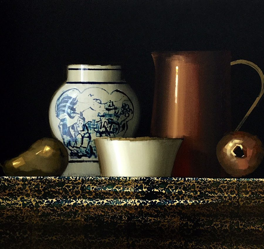 STILL-LIFE-WITH-CHINESE-VASE-20-X-24-inches-Oil-on-Panel